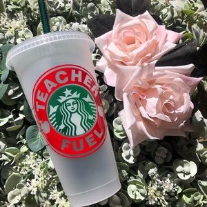 Custom teacher Starbucks reusable cold cup